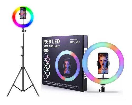 Anillo Aro De Luz Rgb /luz Multicolor + Trípode 180