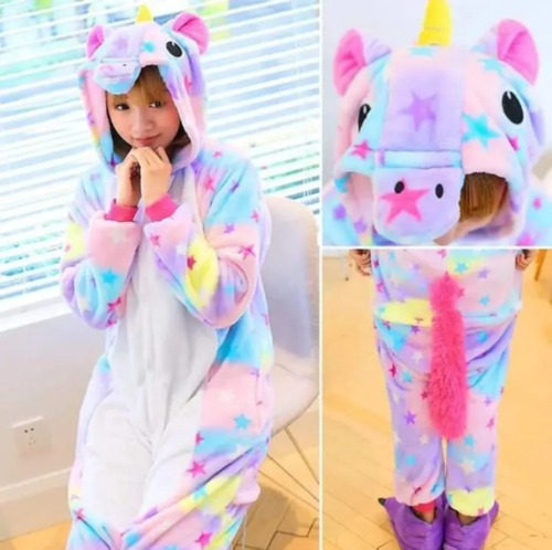 Pijama Kigurumide Unicornio Adulto Y Niño