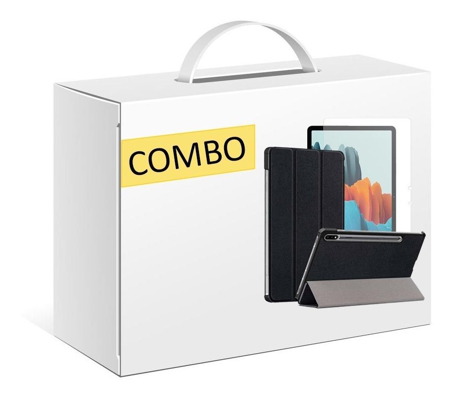 COMBO FUNDA SMART COVER TAB SAMSUNG S7 PLUS + VIDRIO TEMPLADO