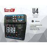 Mixer Consola Analoga Prodj U4 Interfaz Usb Grabacion