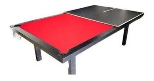 Mesa De Pool Profesional + Ping Pong + Comedor + Accesorios