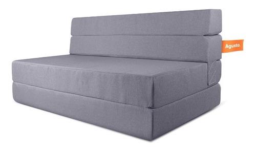 Sofa Cama Doble Agusto ® Sillon Plegable Matrimonial Colchon