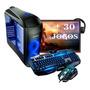 Pc Completo Gamer Monitor 19 Led Hdmi Wifi 8gb + 30 Jogos! Original