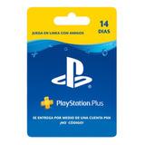 Play Station Plus 14 Días Psn Ps5 Ps4 Entrega Inmediata!