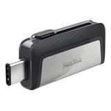 Pendrive Sandisk Ultra Dual Drive Type-c 16gb 3.1 Gen 1 Negro Y Plateado