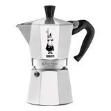 Cafetera Bialetti Moka Express 6 Cups Manual Plata Italiana