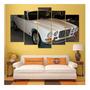 Quadro Decorativo 5 Partes Jaguar Xj6 4.2 Estilo Mosaico Original