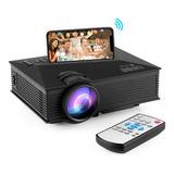 Proyector Portátil 1080p / Compatible Con Android Y iPhone