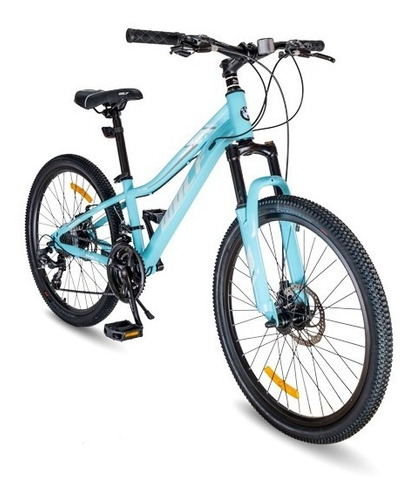 Bicicleta Wolf Turquesa Niños Rod 24 Tsuy