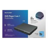 Dvd Player Multilaser 3 Em 1 Sp391 Bivolt Cd/dvd/pendrive