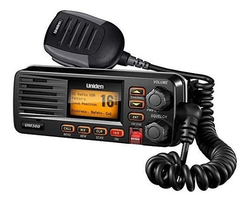 Radio Vhf Marítimo Uniden Um380 Dsc Solara Preto