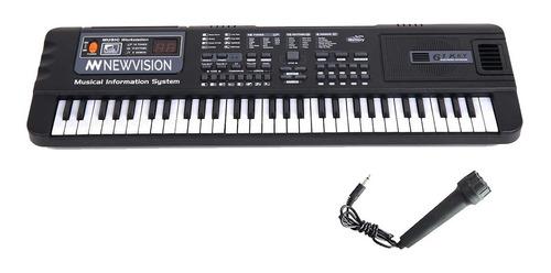 Teclado Musical Organo Piano 61 Teclas Con Microfono Ritmos