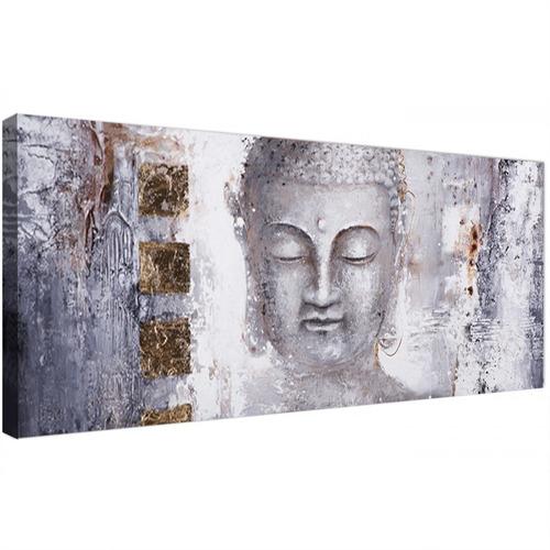 Cuadro Buda Elegante Moderno Minimalista Grande En Canvas