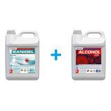 Combo Alcohol En Gel 5l+alcohol Etilico 5l Sanitizante Anmat