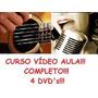Curso De Violão + Canto! Aulas Em 4 Dvds Cvr Original