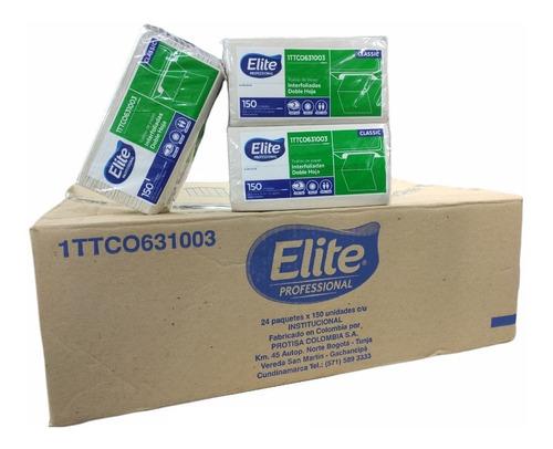 Toalla Para Manos Elite 24 Paquetes De 150 Hojas Caja