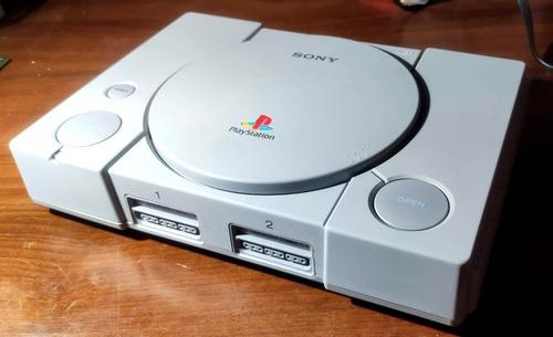 Playstation 1 Fat Excelente Estado - Joystick Y 5 Juegos Psx