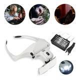 Lentes Con Zoom 5 Lente Luz Lupa De Vidrio Para Microblading
