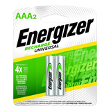 Blister 2 Pilas Recargables Energizer Aaa 700mah 1000x Nh12 - Importadora Fotografica - Distribuidor Oficial Energizer