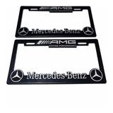 Par (2) Portaplacas Mercedes Benz