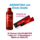 25 Tinturas Color Máster X 60gr + 2 Aguas 990 Fidelité