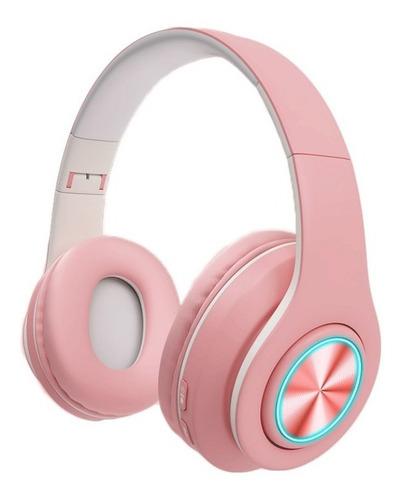 Auriculares Inalámbricos Bluetooth Luz Led Rgb Color Pastel