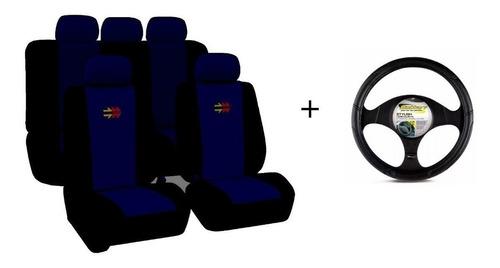 Kit Funda Auto+ Alfombra + Cubre Volante Cinturones/palanca
