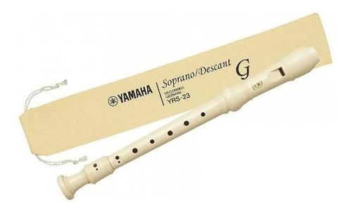 Flauta Doce Germânica Yamaha Yrs-23g C/capa Web Instrumentos