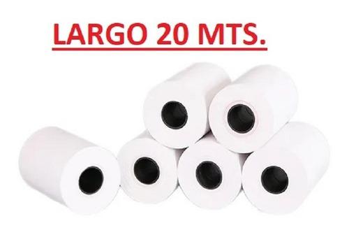 20 Rollos Papel Térmico 58mm