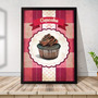 Quadro Decorativo A3 45x35 Com Moldura Gourmet Cupcakes Br07 Original