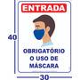 Cartaz  Obrigatório O Uso De Máscara 30x40cm - 1 Unidade Original