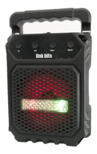Parlante Bluetooth Portátil Recargable Luz Led Rfr 241