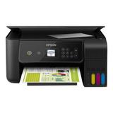 Impresora A Color  Multifunción Epson Ecotank L3160 Con Wifi Negra 110v