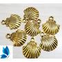 20 Concha Dourada Sereia Ariel 2cm Pingente Original