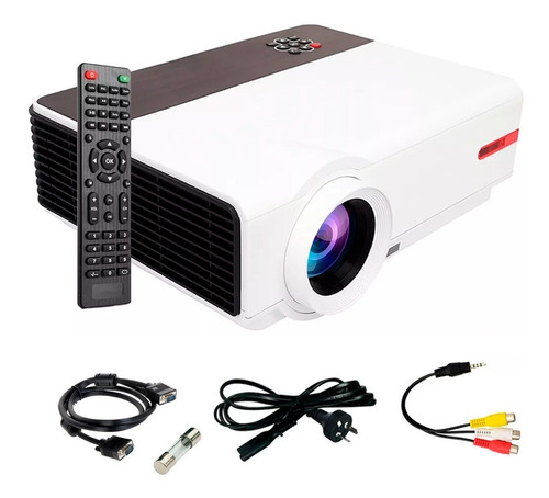 Proyector Hd 1080 Portable Led 5500 Lumens Hdmi Tv Parlante