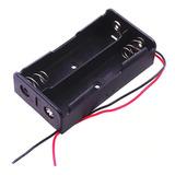 Portapilas X 2 Bateria 18650 Con Cables Porta Pilas