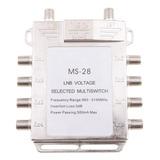 Interruptor Multi Fta De Satélite De Tono 2x8 Diseqc 0 /