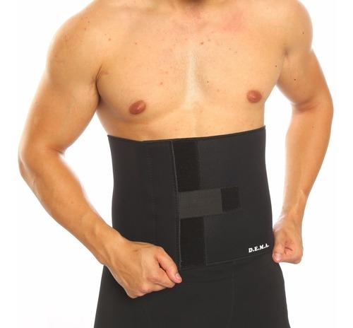 Faja Reductora Hombre Neoprene Deportiva Lumbar Modeladora Termica Cintura Abdomen Gym Gimnasio Deporte Cal Agnovedades