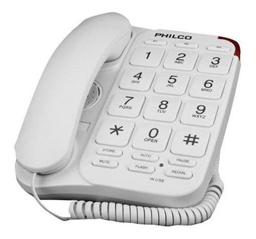 Teléfono Números Grandes N / B - Blanco