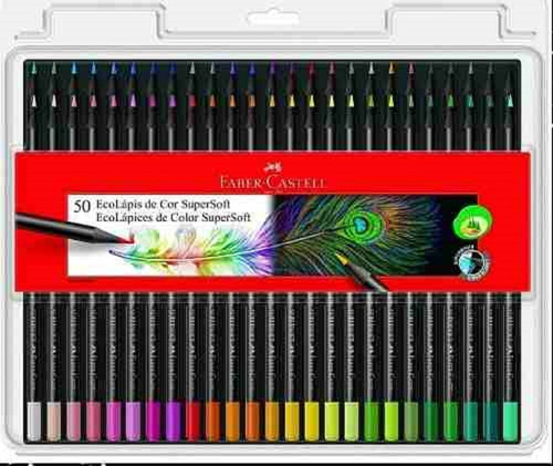 Lapices Faber Castell Supersoft X 50 Colores  Microcentro