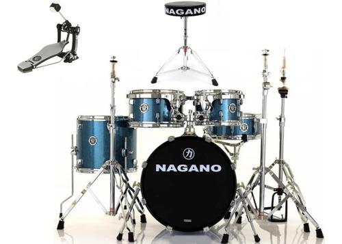 Bateria Nagano Garage Gig Oceano + Bag Baqueta Oferta Novo