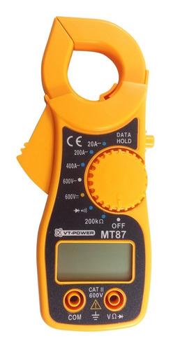 Pinza Amperométrica Digital Con Buzzer. Dt87