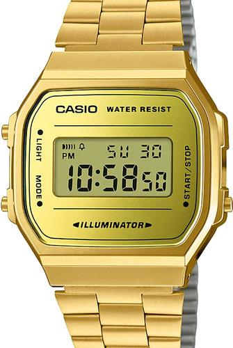Relógio Casio Unissex Vintage Dourado Quadrado