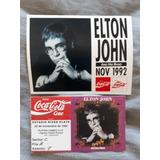 Entrada Ticket Elton John 1992 Estadio River Plate + Sticker