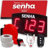 Kit Painel De Senha Sequencial Digital Dispensador E Bobina