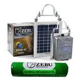 Cerca Elétrica Solar Bateria Eletrificador 35km Zebu Zs20bi