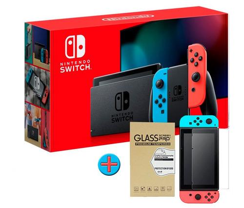 Nintendo Switch Neon + Vidrio Templado De Regalo, Macrotec