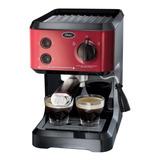 Cafetera Oster Bvstecmp65r Automática Roja Para Expreso Y Cápsulas Monodosis 127v