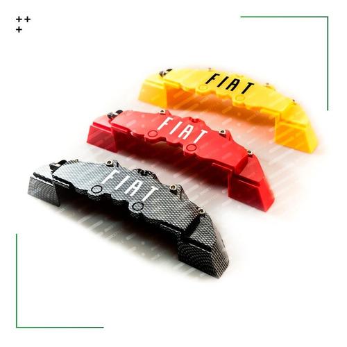 Kit 2 Cubre Calipers Para Fiat Argo Cronos Mobi 500 Toro Tipo Idea Linea Palio Punto Siena Strada Juego De Accesorios X2