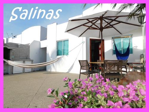 Feriado En Salinas Casa Amoblada Alquiler Piscina Playa